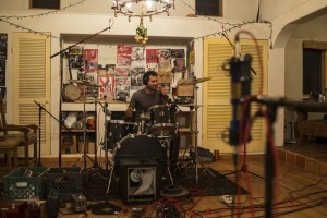 Recording in Taos New Mexico - Lou Drumming