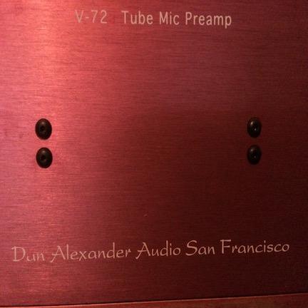 Custom Dan Alexander v72  Tube Mic Preamp