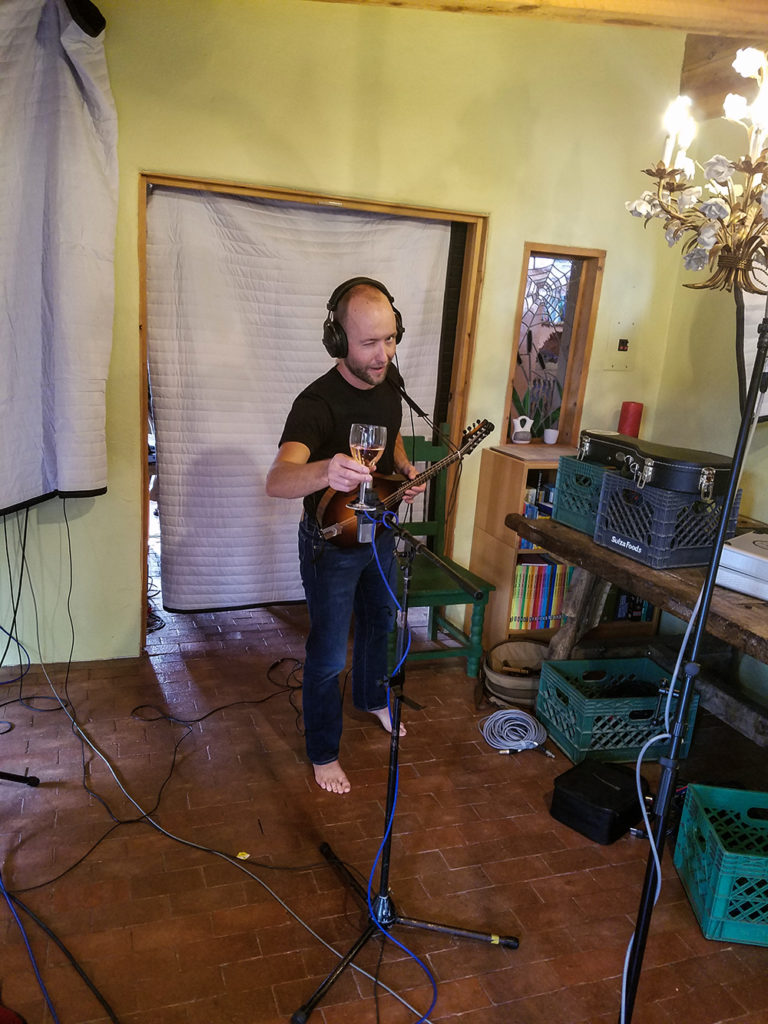 Taos Recording Mandolin with AKG414
